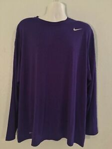Nike Dri-Fit Purple Long Sleeve Technical Tee Shirt EUC Men's 2XL ~2~