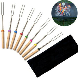 Stretch 8pc Barbecue Marshmallow Roasting Sticks Telescoping Fork Smores Skewers