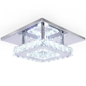 LED Crystal Ceiling Light Modern Mini Pendant Light Contemporary Pendant Light