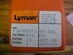Lyman Rifle Mould 2640193 Single Cavity 45 Cal FN 405 Gr. #457193