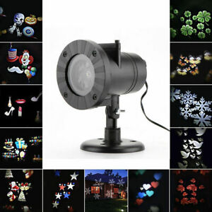 12 Patterns Outdoor LED Laser Stage Light Christmas Decor Light Projector Lamp