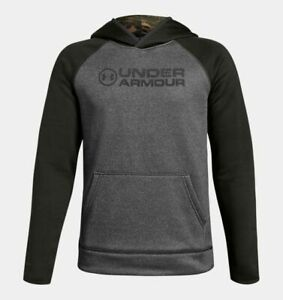 NWT Under Armour Storm Armour Fleece Stacked Boys Youth Hunting Hoodie Large YLG