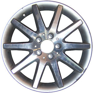 65442 Reconditioned 17X8.5 Alloy Rear Wheel Silver Painted with Machined Face