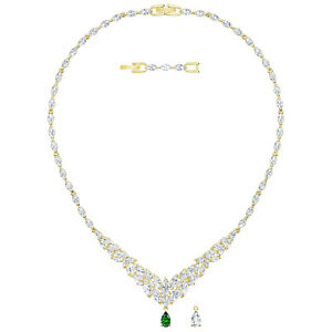 LOUISON LARGE NECKLACE WHITE GOLD PLATING 2019 SWAROVSKI JEWELRY 5505862