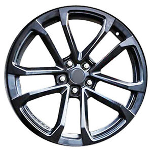 05548 Refinished 20X11 Alloy Wheel Flat Black Metallic Liquid Clear Painted
