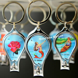 12 MEXICAN LOTERIA KEYCHAIN GIFT PARTY FAVORS BEER BOTTLE OPENERS DECORATIONS