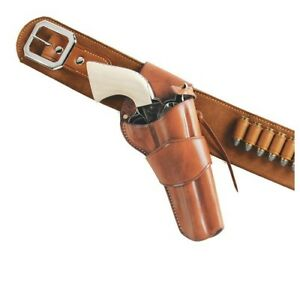 Galco Gunleather W-DRC150 1800s Tan RH Colt SAA 357 Belt Cross-Draw Holster