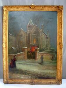 19th c. Victorian Era Alfred Walter Bayes 1831-1909 Neoclassical Oil Painting