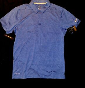 Nike Dry Fit Golf Shirt Men's Size Medium Blue Striped New With Tags ($75)