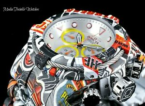NEW Invicta 52mm Bolt Zeus Quartz Chrono Graffiti Silver Dial HYDROPLATED Watch