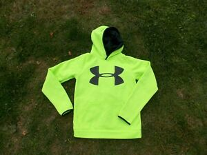 Under Armour Boys Youth Hoodie Size Large Loose NEON