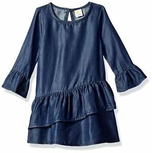 Crazy 8 Baby Girls Casual Woven Dress 18-24 Months Denim New