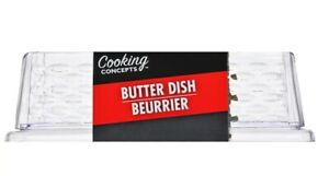 Cooking Concepts Textured Plastic Butter Dishes With Lid