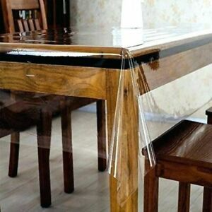 Clear Plastic Waterproof Tablecloth Transparent Heavy Duty Dining Table Cover $16.75