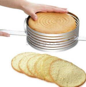 Adjustable Round Mousse Cake Layer Slicer Ring Mold Cutter Stainless Steel DIY