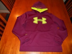 Under Armour boys hoodie size Y L youth large loose fit Storm