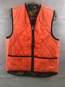 Lightweight Outdoor Hunting Reversible Orange Camo Vest Youth Large (1416)