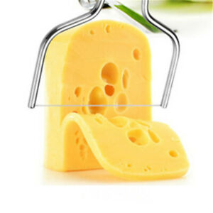 1pc Stainless Steel Cheese Wire Slicer Cheese Butter Cutter Cheese Cake Knife MF