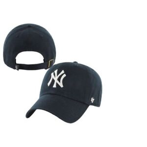 NY YANKEES ADULT 47 BRAND NAVY CLEAN UP DAD HAT NEW amp; OFFICIALLY LICENSED $23.95