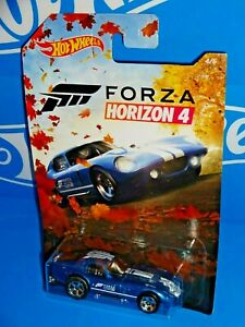 Hot Wheels 2019 Wal-Mart FORZA Horizon 4 Series Shelby Cobra Daytona Coupe Blue