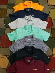 MINT LOT 7 UNDER ARMOUR FOOT JOY NIKE GOLF POLO SS SHIRT MENS M POLYESTER