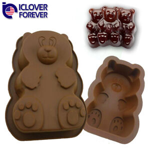 DIY Gummy Bear Mold Candy Making Supplies Cakes Chocolates Maker Silicone Molds