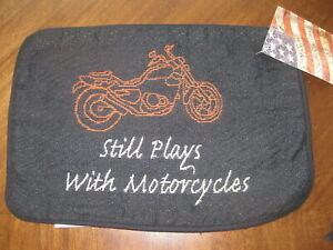 Still Plays with Motorcycles Tapestry Pillow Cover Shell You Fill with Polyfil