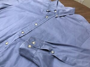 Brooks Brothers Sport Shirt Mens Blue Long Sleeve Button Down Shirt Size Large