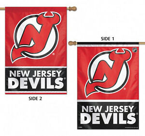New Jersey Devils Vertical House Flag NHL Licensed Hockey 2 Sided 28quot;x40quot;