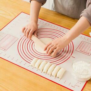 Silicone Non stick Roll Pad Cake Dough Mat Pastry Clay Fondant Baking Mat XL $8.49