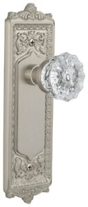 Nostalgic Warehouse EADCRY_PRV_238_NK Crystal Solid Brass Privacy - Nickel
