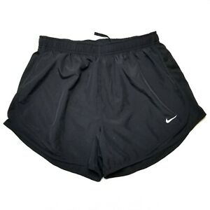 Nike Women's Tempo Running Shorts Size L Training Gym Athletic Solid Black