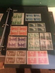 US 756 765 National Parks Set of Imperforate Blocks of 4. No gum.