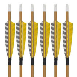 6 12Pcs Carbon Arrows Spine 500 Wood Camo Shaft Archery Outdoor Target Hunting