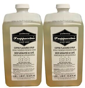 Starbucks (2-Pack) Frappuccino Syrup 63fl oz Coffee Flavored Beverage Base 7/20
