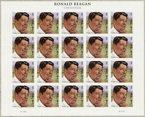 President Ronald Reagan Sheet 20 Forever Stamps Scott 4494