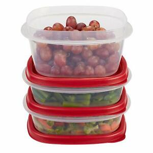 Rubbermaid Easy Find Lids Food Storage Containers Racer Red 6 Piece Set