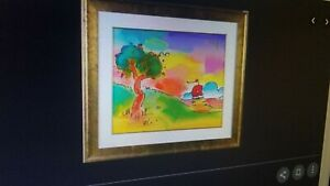 Quiet Lake III Ltd Ed Lithograph Peter Max - SIGNED with COA