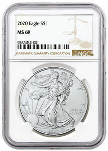 2020 1 oz American Silver Eagle $1 Coin NGC MS69 Brown Label SKU59444 $35.23
