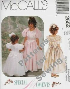 Pattern McCalls Sewing Girls Special Occasion Flower Church Dress Sz 4 6 NEW OOP $4.50