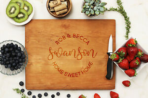 Personalized Cutting Board: Custom Inscription amp; Choose From 4 Types of Wood