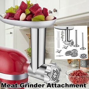 Metal Meat Food Grinder Attachment For KitchenAid Stand Mixers with Blade USA