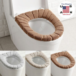 Bathroom Toilet Seat Closestool Washable Soft Warmer Mat Cover Pad 30cm Cushion