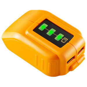 12V/20V USB Charger Power Source Lithium Battery Adapter Replace DEWALT DCB090