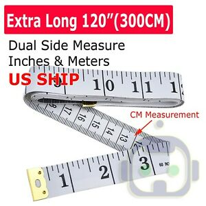 120quot; Body Measuring Ruler Sewing Cloth Tailor Tape Measure Seamstress Soft Flat
