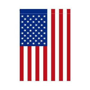 Double Applique American Flag (Large or Garden Size) by Magnolia Lane