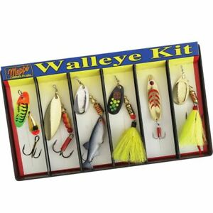 Mepps Walleye Kit - Plain and Dressed Lure Assortment #K6A