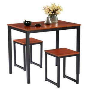 High Quality 3 Piece Counter Height Dining Set Table and 2 Chair Kitchen Bar New