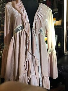 Marrika Nakk Pale Pink Velvet Jacket Rare And Beautiful Vintage Style One Size