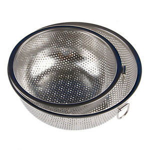 Stainless Steel Kitchen Mesh Sifter Colander Strainer Sieve Rice Food Basket